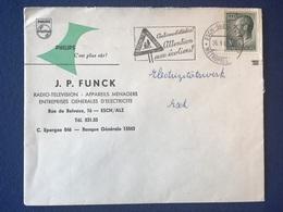 Luxembourg - Enveloppe Electricité J. P. Funck  - Philips - Esch-sur-Alzette - Lettres & Documents