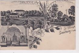 (57) SAARBURG  3 Vues : St Urlich   (Décor Muguet Et Pensées) - Sarrebourg