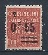 FRANCE - 1926 - Colis Postaux - Y.T. N°58 - 0 F. 55 Sur 15 C. Rouge (1) - Valeur Déclarée - Neuf** - TTB - Colis Postaux