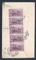 Carta Com 5 Stamps Do Castelo De Silves, Algarve. Letter With Strip 5 Stamps Silves Castle. Islamic Military Architectur - Castelli