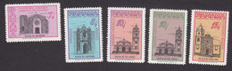 Panama, Scott #C257-C259, C259A, C260, Mint Hinged, Buildings, Issued 1962 - Panama