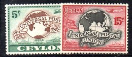 CI855 - CEYLON SRI LANKA 1949,  Serie Yvert 277/279  ***  MNH (2380A).  Upu - Sri Lanka (Ceylon) (1948-...)