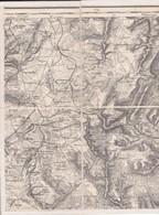 (57) CARTE D' ETAT MAJOR  NE 36 ( Sur Papier Toilé 28 X44) Alentours De THIONVILLE - Europe