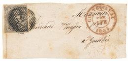 1855  BRIEFFRONT COB 6 V. CHATELINEAU N. GOSSELIES  Zie Scan(s) - 1851-1857 Médaillons (6/8)