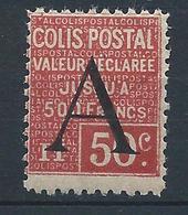 FRANCE - 1928 - Colis Postaux - Y.T. N°84 - 50 C. Rouge - Valeur Déclarée - Neuf** - TTB - Colis Postaux