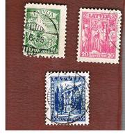 LETTONIA (LATVIA)   -  SG 249.251  -  1934  NEW CONSTITUTION ANNIVERSARY  -   USED - Lettonia