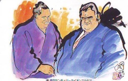Télécarte  Japon * SUMO * JAPAN (974) LUTTE LUTTEURS WORSTELEN * JUDO *  Kampf Wrestling LUCHA Phonecard - Sport