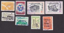 Panama, Scott #C275, C278-C280, C284, C287-C288, C290, Used, Space, Buildings, Issued 1962-63 - Panama