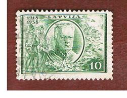 LETTONIA (LATVIA)   -  SG 280  -  1930  20^ ANNIVERSARY OF INDEPENDENCE: GEN. BALODIS  -   USED - Lettonia