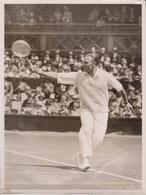 WIMBLEDON CHAMPIONSHIP V O FROITZHEIM GERMANY J BRUGNON FRANCE TENNIS 20 * 15 CM  Fonds Victor FORBIN (1864-1947) - Deportes