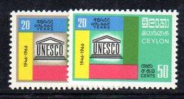 CI916 - CEYLON SRI LANKA 1966,  Serie Yvert  368/369  ***  MNH (2380A). Unesco - Sri Lanka (Ceylon) (1948-...)