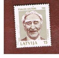 LETTONIA (LATVIA)   -  SG 383  -  1994 E. VALTERS, ACTOR -   USED - Lettonia