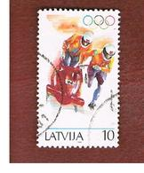 LETTONIA (LATVIA)   -  SG 385  -  1994 WINTER OLYMPIC GAMES: BOBSLEIGH    -   USED - Lettonia