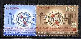 CI923 - CEYLON SRI LANKA 1965,  Serie Yvert  353/354  ***  MNH (2380A). Itu - Sri Lanka (Ceylon) (1948-...)