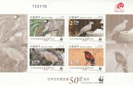 Macau China Bloc Feuillet ** Neuf Sans Charnière - 50 Ans WWF - Oiseaux - 1999-... Région Administrative Chinoise