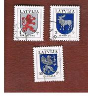 LETTONIA (LATVIA)   -  SG 391.396  -  1994 ARMS  -   USED - Lettonia