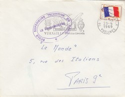 LETTRE. FM. ECOLE SUPERIEURE TECHNIQUE DU GENIE. VERSAILLES 1969 / 2 - Marcophilie (Lettres)