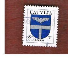 LETTONIA (LATVIA)   -  SG 395  -  1996 ARMS: LIVANI  -   USED - Lettonia