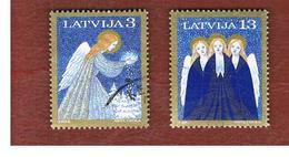 LETTONIA (LATVIA)   -  SG 412.414  -  1994  CHRISTMAS  -   USED - Lettonia