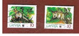 LETTONIA (LATVIA)   -  SG 409.410  -  1994 ANIMALS  -   USED - Lettonia