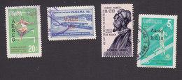 Panama, Scott #C289, C291, C295, C298, Used, Hurdles, Surcharged, Balboa, Issued 1963-64 - Panama