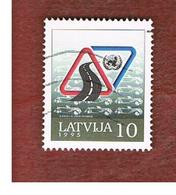 LETTONIA (LATVIA)   -  SG 419  -  1995  ROAD SAFETY YEAR  -   USED - Lettonia