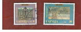 LETTONIA (LATVIA)   -  SG 456.459  -  1996 800^ ANNIVERSARY OF RIGA  -   USED - Lettonia