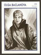 PORTRAIT DE STAR 1930 ETATS UNIS USA - ACTRICE OLGA BACLANOVA - ACTRESS CINEMA - Fotos