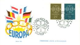 Luxemburg 609/10 FDC CEPT 1959 - Europa-CEPT