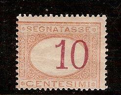 (Fb).Regno.Umberto I.1890-94.-10c Arancio E Carminio Nuovo,con Cifra Fortemente Spostata (8-19) - 1878-00 Umberto I