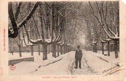 95Pp  09 Saurat Place Des Tilleuls Sous La Neige - Frankreich