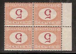 (Fb).Regno.Umberto I.1890-94.-5c Arancio E Carminio In Quartina Nuova,g.integra,MNH  Con Cifre Capovolte (720-16) - 1878-00 Umberto I