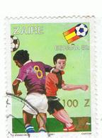 ZAIRE»1990»MICHEL CD 989»OVERPRINT»USED - Postzegels