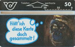 ÖSTERREICH Schalter Telefonkarte Nr. 51 Sir Rowland Hill - Affe - 321 A -  Auflage  100 000 Stück - Siehe Scan -10842 - Oesterreich