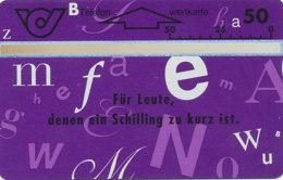 ÖSTERREICH Schalter Telefonkarte Nr. 55 Lettern - Card 66 - 303 A -  Auflage  100 000 Stück - Siehe Scan -10844 - Oesterreich