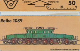 ÖSTERREICH Schalter Telefonkarte Nr. 88 Lokomotive - Reihe 1089  - 400 A - Auflage  100 000 Stück - Siehe Scan -10853 - Oesterreich