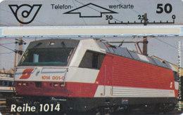 ÖSTERREICH Schalter Telefonkarte Nr. 92 Lokomotive -E- Reihe 1014 - 401 A - Auflage  20 000 Stück - Siehe Scan -10855 - Oesterreich