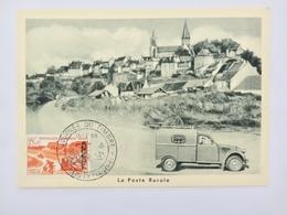 CARTE PHILATELIQUE JOURNEE DU TIMBRE 1958 LA POSTE RURALE - 1950-59
