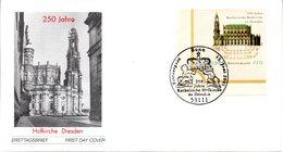 """BRD Schmuck-FDC """"250 Jahre Katholische Hofkirche, Dresden"""", Mi. 2196 ESSt 13.6.2001 BONN - FDC: Sobres"""