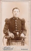 Photographie CDV Soldat Militaire 80° Régiment D' Infanterie Militaria Photographe Allard à NARBONNE (2 Scans) - War, Military