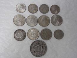 5 Apaxmai 1876 - 2 Francs Ceres 1871 Et Semeuse 1899 1915/16/17 - 1 Frank 1910 Et 1 Franc 1908/15/17 Non Nettoyées - Vrac - Monnaies