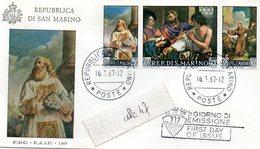 - REPUBLICA DI SAN MARINO - 1 GIORNO DI EMISSIONE - 16.3.67-12 - - FDC