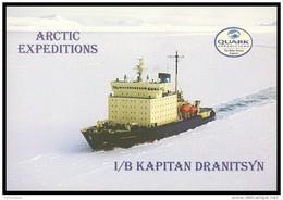 "POSTCARD ""Quark Expedition"" Mint RUSSIA DIESEL ICEBREAKER ""Kapitan Dranitsyn"" BRISE-GLACE EISBRECHER ARCTIC NORTH POLE - Barche"
