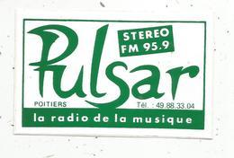 Autocollant ,  RADIO ,  PULSAR , 95.9 , POITIERS - Autocollants