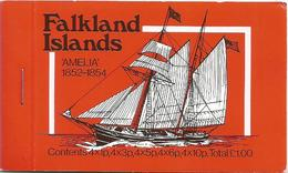 Falkland Islands 1980 Complete Ship Stamp Booklet 4 Sheets 4x 1p, 4x3p,4x 50, 4x 6p - Falklandeilanden