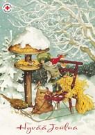Postal Stationery - Bird - Bullfinch - Elf Feeding Birds - Red Cross 2009 - Suomi Finland - Postage Paid - Finlandia
