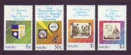 Nauru, 1989, Anniversaries, Set, MNH, Mi# 357/60 - Nauru