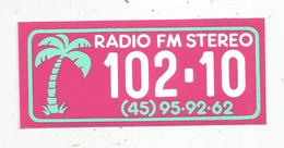 Autocollant ,  RADIO ,  Radio FM Steréo 102.10 - Stickers