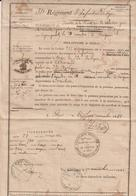 """Bouches Du Rhône , Aix - Permission """"de S'écarter De La Route"""" 1848 - Documents Historiques"""