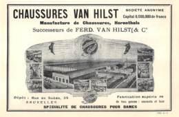1928 - HERENTALS - Manufacture De Chaussures - VAN HILST - Dim. 1/2 A4 - Publicités